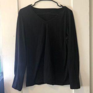 Plain black v neck